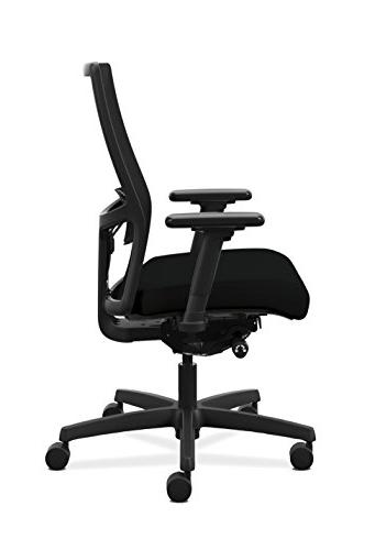 HON 2.0 Adjustable Lumbar Work - Black Mesh Chair Desk, Black