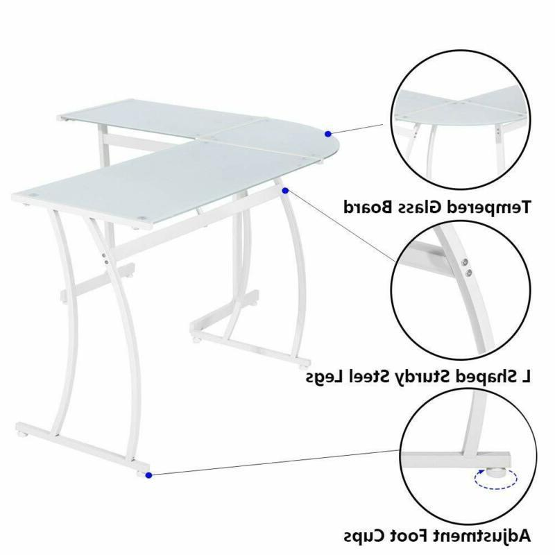 Greenforest Shape Desk Home With
