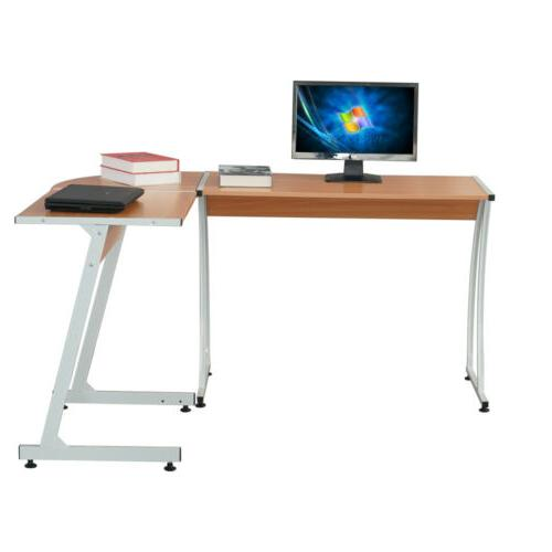 L-Shape Corner Computer Desk Table