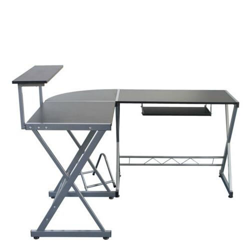 L-Shape Computer PC Laptop Table