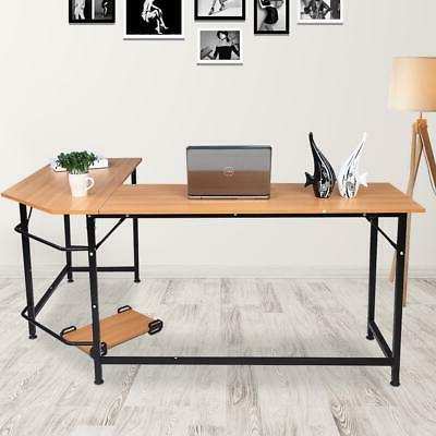l shape corner home office computer desk
