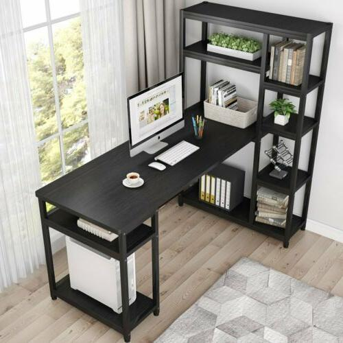 Office Desk Study Table Writing Desk Workstation with Hutch