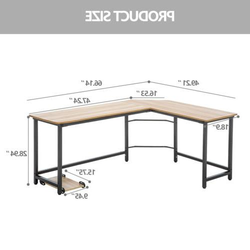 L-Shaped Desk Computer Gaming Table Workstation Office Home