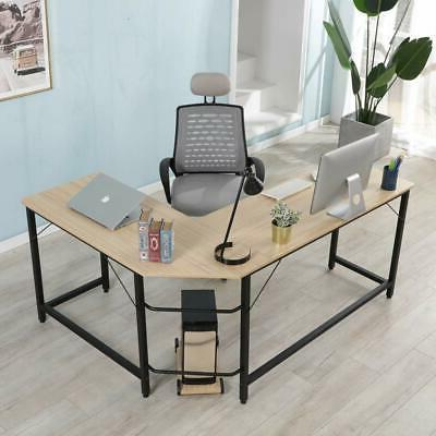 L-Shaped Office Corner Computer Desk Home Office Study Lapto