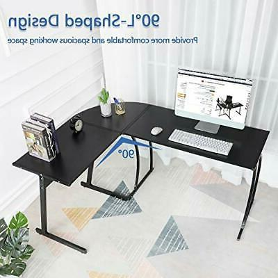 GreenForest L-Shaped Corner Computer Table,Home