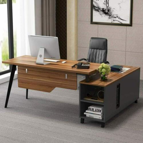 "Tribesigns L-Shaped Desk, 55"" Executive Office Desk Computer"