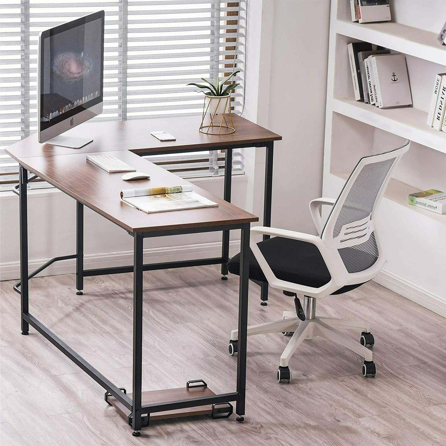 L-Shaped Desk Save Space Home