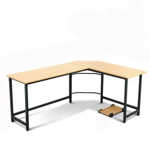 Office Computer Desk L-Shaped Workstation Home Student Writing Table