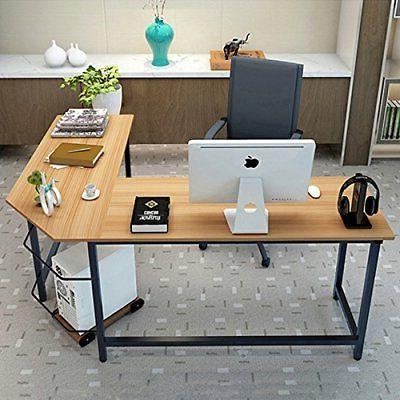 L-Shaped Gaming Laptop Workstation Home Office