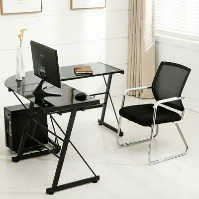L-Shaped Desk Gaming Table Laptop W/ Keyboard Tray Stand