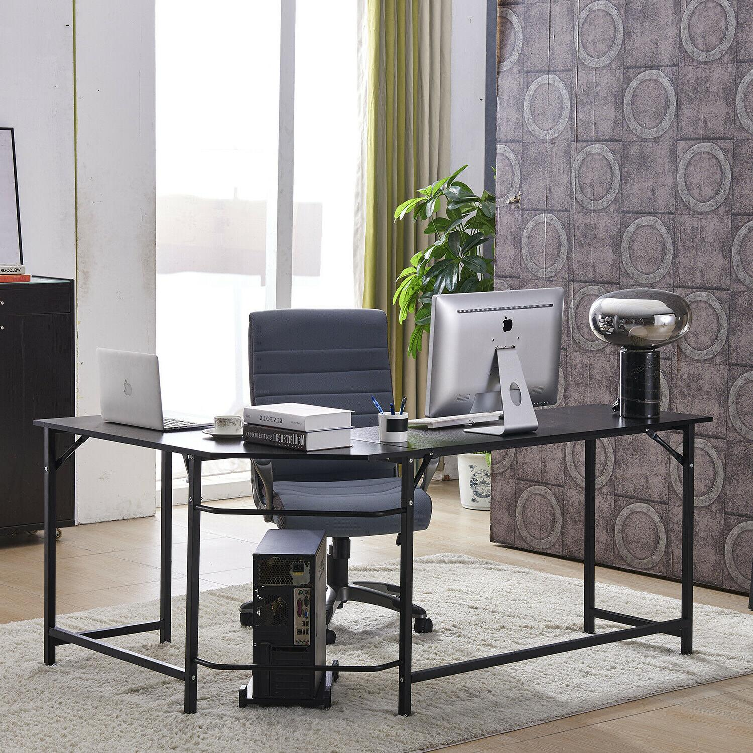 l shaped desk office corner table computer