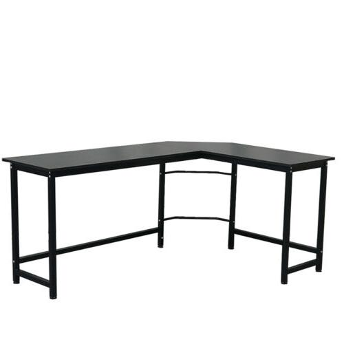 L-shaped Desk Gaming Computer Workstation Table w/ Cpu