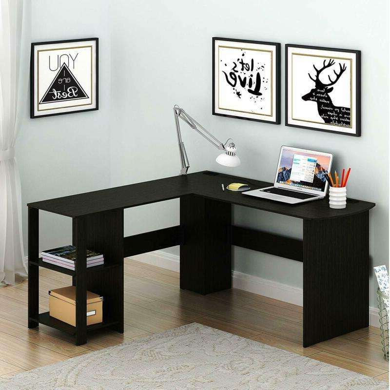 l shaped home office wood corner desk