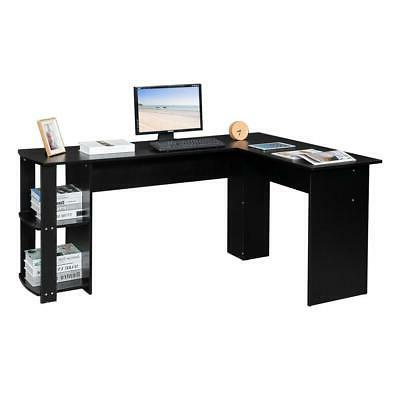 L-Shaped Desk Corner Computer Gaming Table Save Space