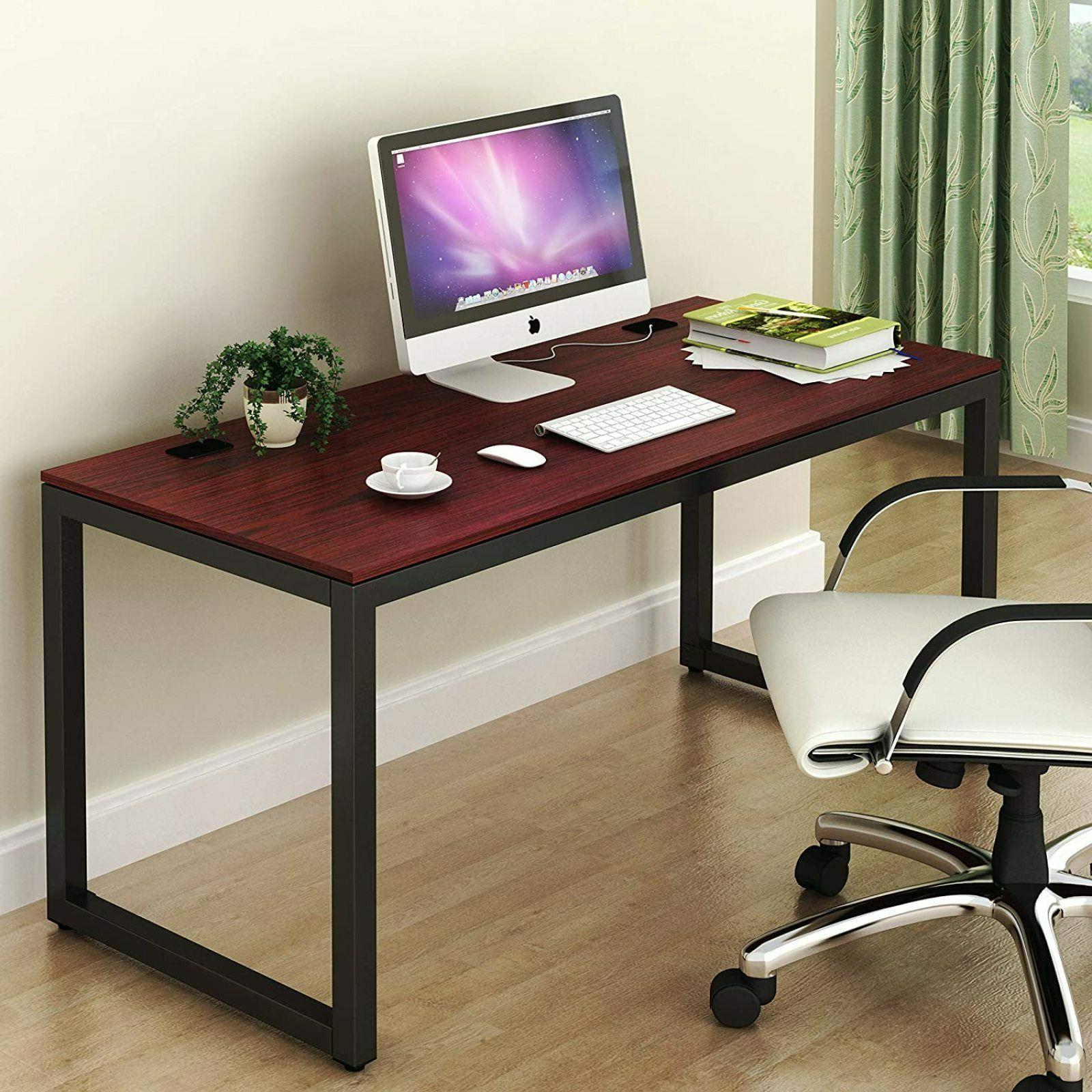 Large Computer Desk Student Table Organizer Home Office Blac