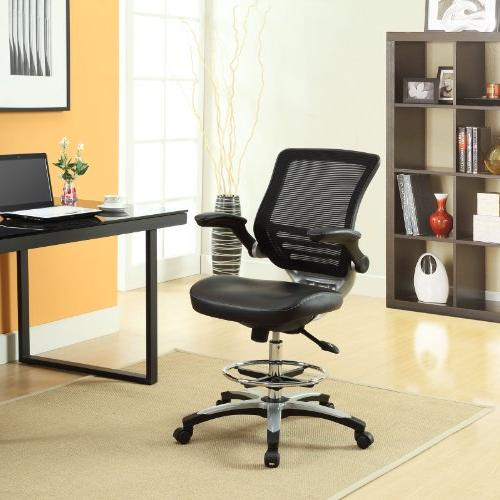 Lexmod Edge Office Drafting Chair With Feet Ring