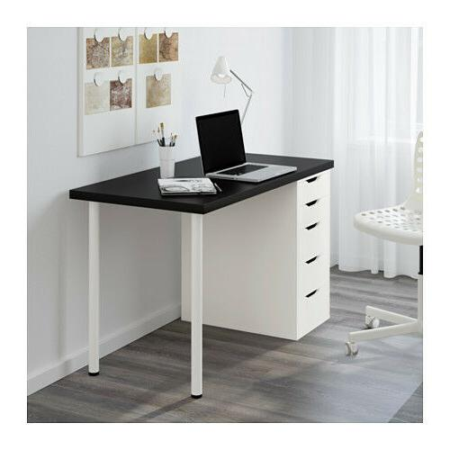 "Ikea / Table Black 47"" Alex Unit Adils"