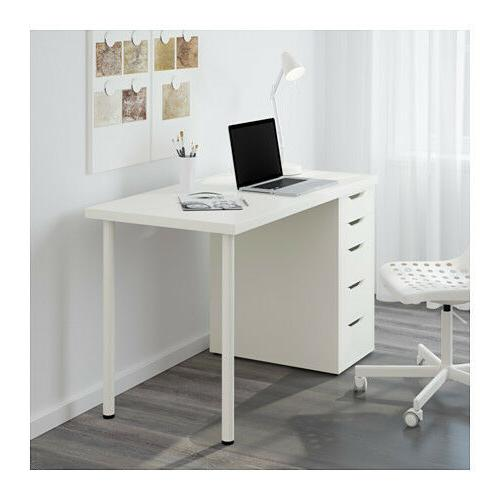 Ikea Linnmon Desk with Drawer Unit White