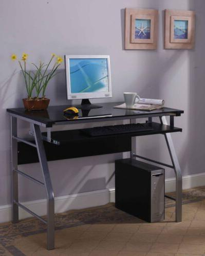 metal tempered glass home office