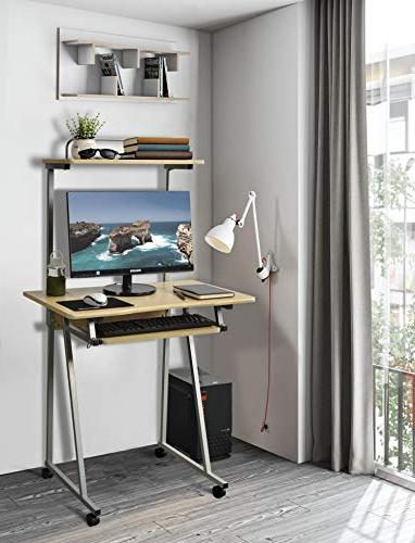 Aingoo Small Rolling Workstation with Keyboard Space