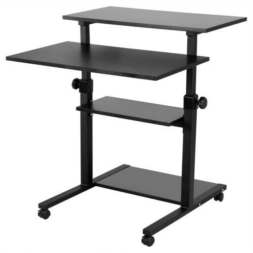 Mobile Height Adjustable Sit & PC Laptop