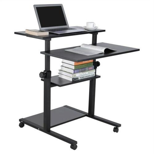 Mobile Height Computer Sit PC Laptop