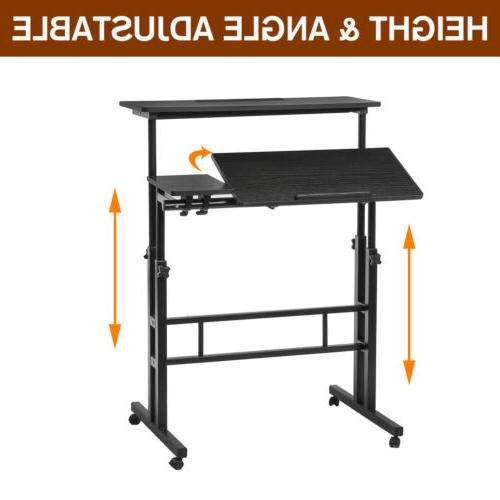 Adjustable Sit Stand Computer Table