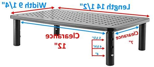 Premium Monitor Laptop Stand Sturdy, Stable Metal Fashionable is Adjustable with Perfect iMac Stand, Shelf