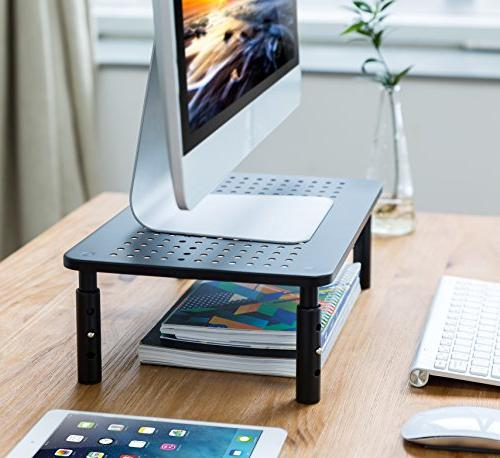 Premium PC Laptop with Stable Metal Construction. Fashionable is Adjustable with Perfect for Computer iMac Computer Shelf
