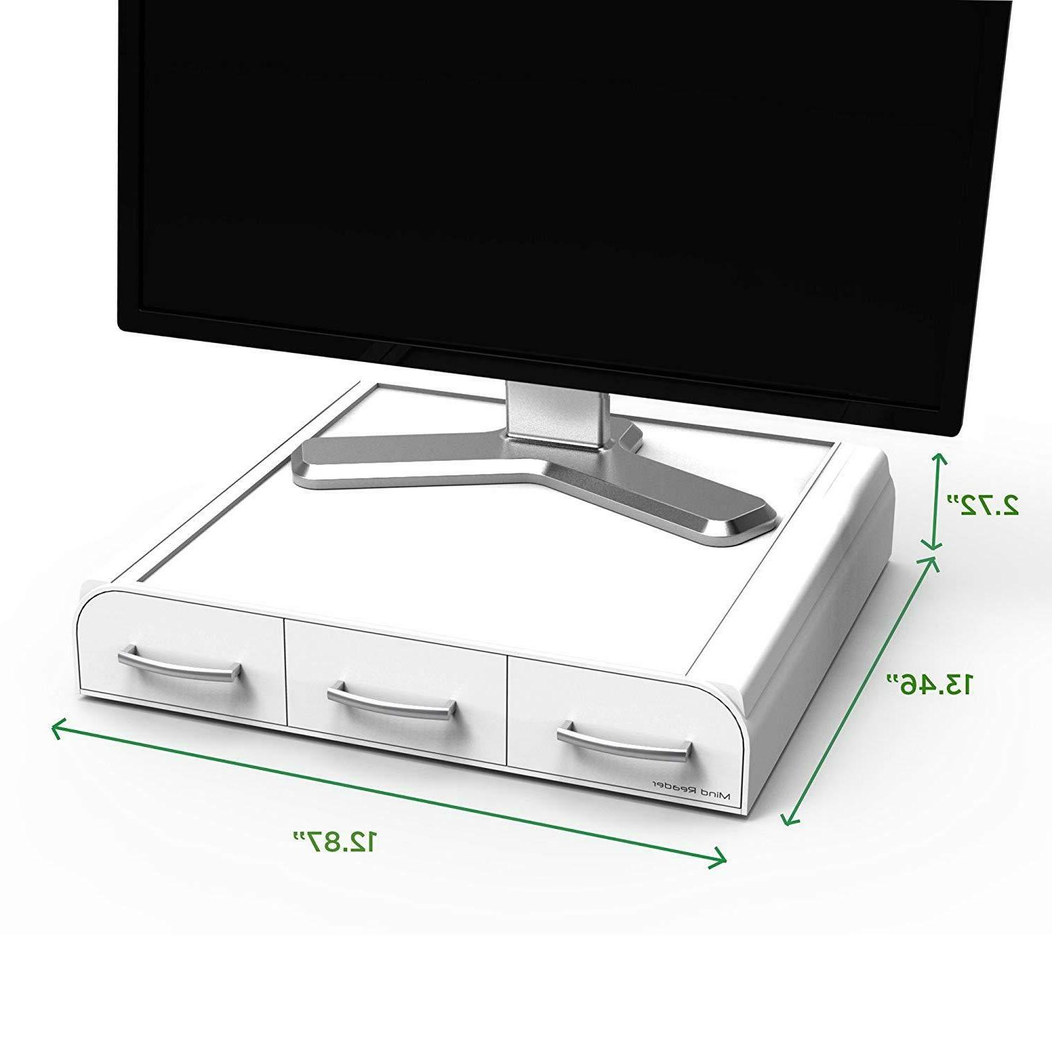 Monitor Stand And Desk Organizer For PC Accessories