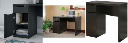 montrese small computer desk in classic black