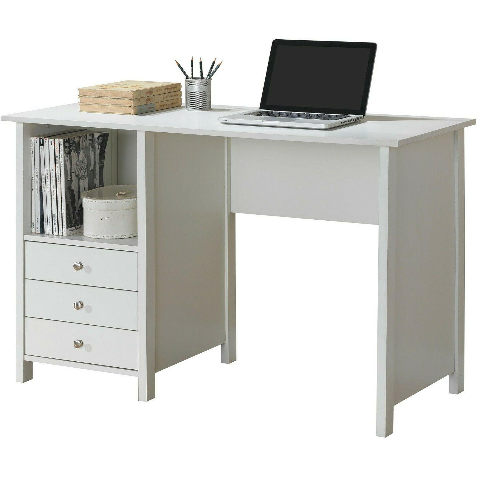Computer Desk With 3 Storage Drawers Bedroom Home Office Fur
