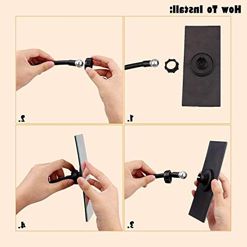 Gosear Clip Cubicle Mirror, Personal and Security Desk View or