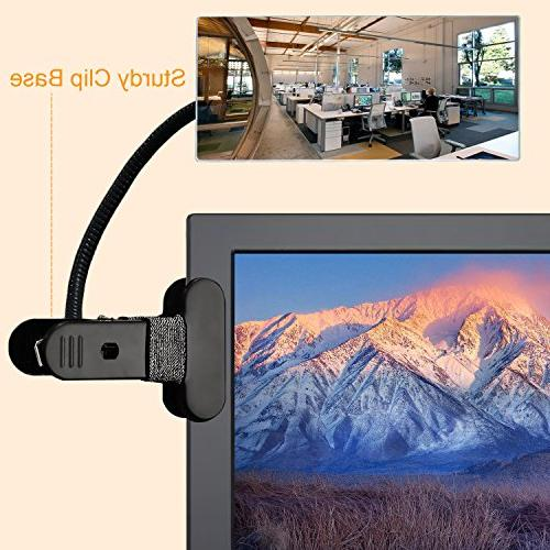 Cubicle Computer Rearview Mirror, for Desk or