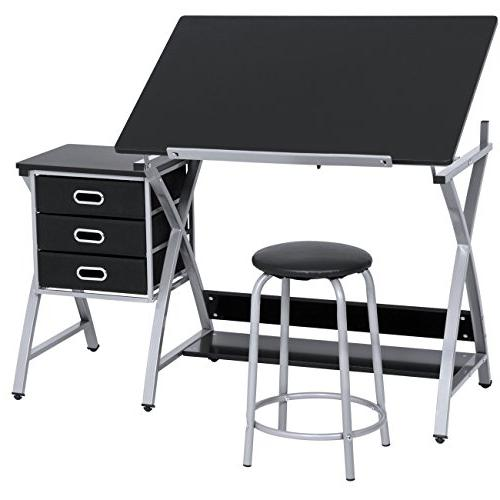 office drawing desk station adjustable