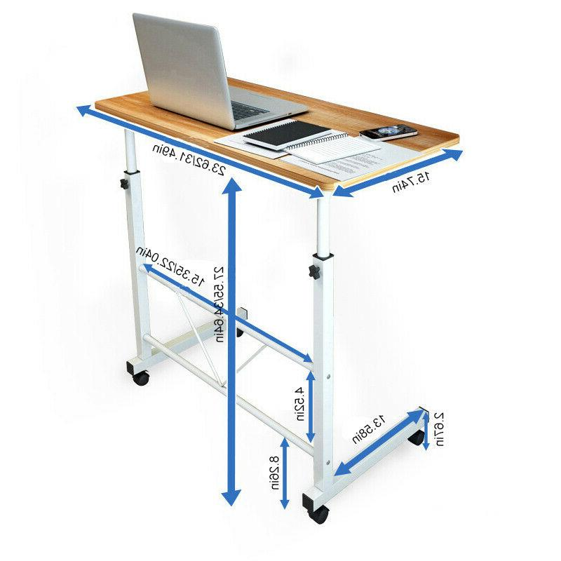 Office Laptop Adjustable Portable Table Cart Computer