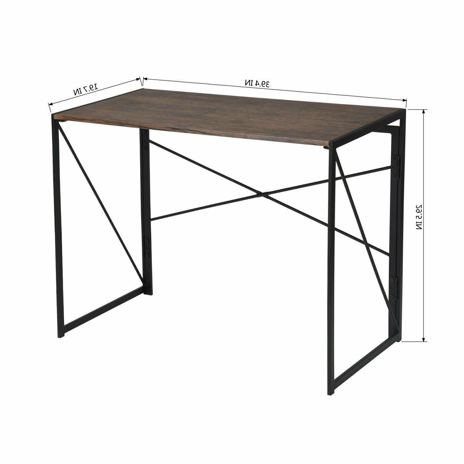 PC Folding Computer Study Student Table Drawer Office