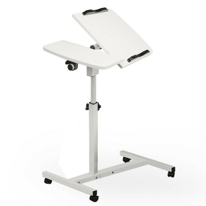 Portable Computer Mobile Stand Office Laptop Desk Rolling Ad
