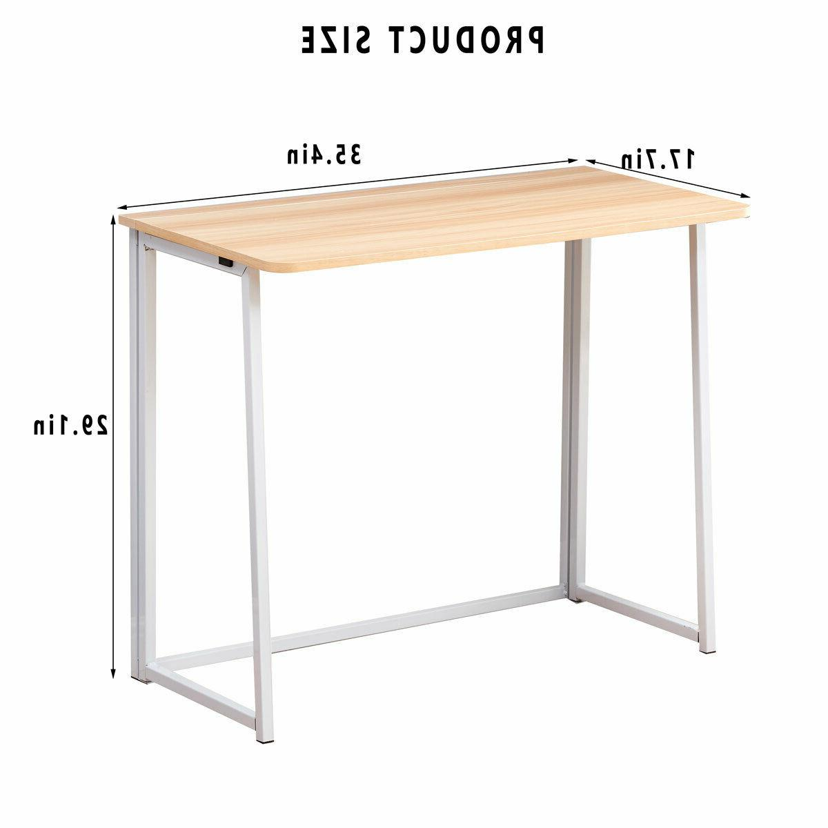 Folding Computer Desk PC Laptop Home Office Furniture