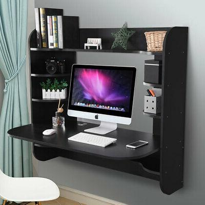 floating wall mounted computer desk work table