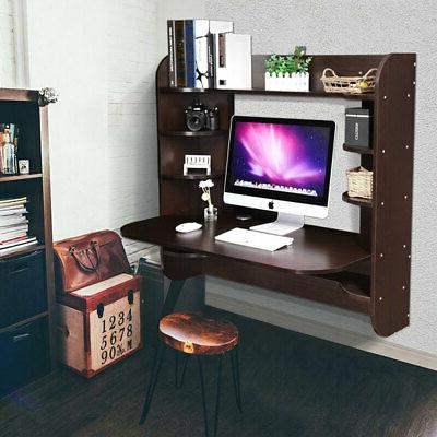 Floating Wall Mounted Computer Desk Office Storage