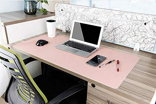 iKammo PU Leather Large XXL Pad Desk Mat for Computer Accessories,Dual-Sided