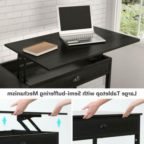 Tribesigns Lift Computer 47'' Desk with Drawers &Storage