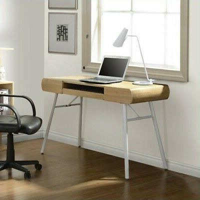 Techni Mobili Modern Computer Desk with Pull Out Keyboard Pa