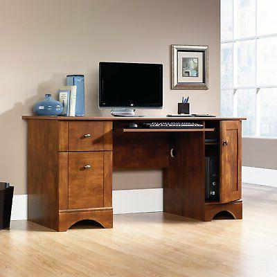 Sauder Computer Brushed Maple