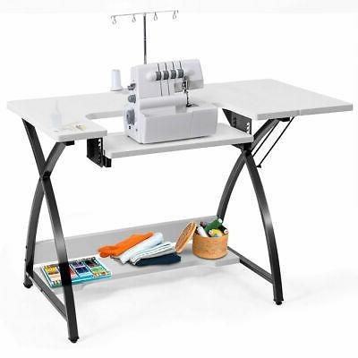 sewing craft table computer desk with adjustable