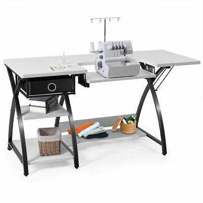 sewing craft table folding computer desk adjustable