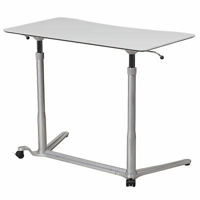 Sit-Down, Stand-Up Grey Desk