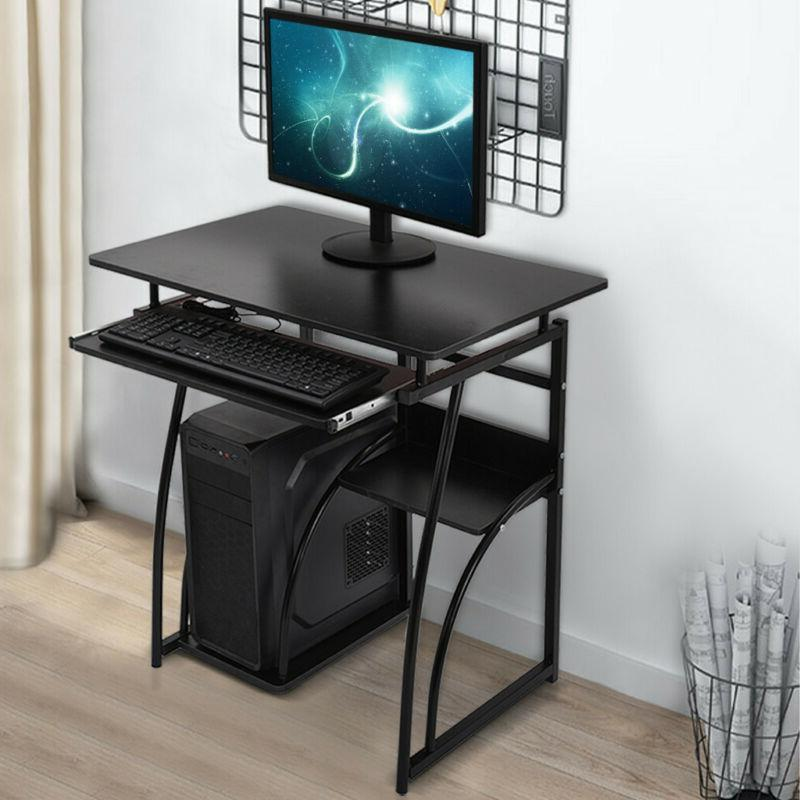 Wood Computer Desk Drawer Study Laptop PC Table Workstation