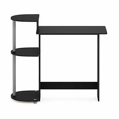 Student Desk Desk Shelves Side Black/Grey